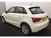2012 WHITE AUDI A1 SPORTBACK 1.6 TDI SPORT DIESEL 5DR CAR FINANCE FROM 29 P/WK