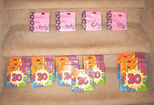 New Birthday Napkins - 30, 40, 50, New Birthday Candles 6, 8, 9
