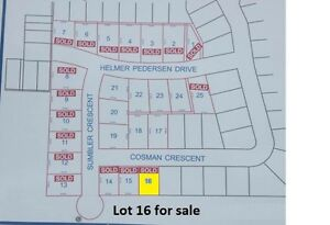 Lot 16 on Cosman Crescent for Sale - NEW PRICE