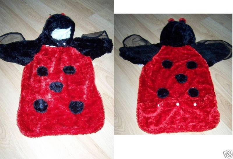 Baby Infant Size 3-9 Months Ladybug Lady Bug Halloween Costume Bunting Euc