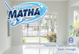 Savon Matha,  nettoyant biodégradable à usage multiple