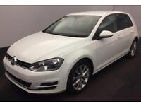 2016 WHITE VW GOLF 2.0 TDI 150 GT DSG DIESEL 5DR HATCH CAR FINANCE FR £50 PW