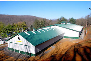 BARNS AND HANGERS FOR GUELPH BY KODIAK STEEL BUILDINGS