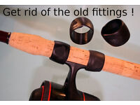 Rod Handle Conversions From Sliding Reel Fittings to Screw Winch Fitting M32 Stretford.