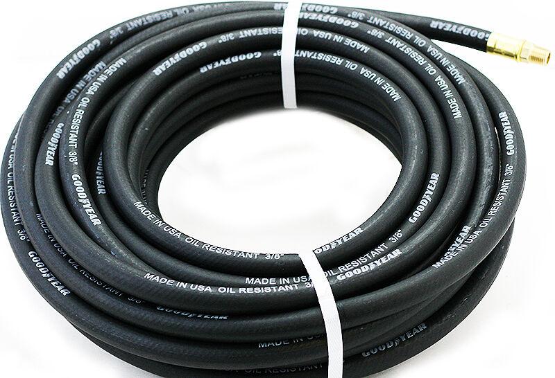 """Black 3/8""""x 50'Hose Air Tool Compressor Crease Continental F"""