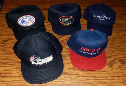 Arco BP Petroleum Prudhoe Bay Alaska Pipeline Baseball Hat Cap Mixed Lot of 5