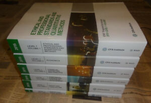 Chartered Finacial Analyst curriculum (CFA) books for sale