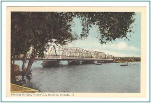 Bay Bridge Postcard Belleville Ontario