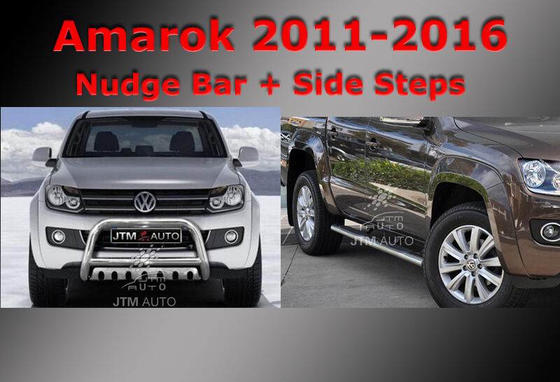 Side Steps + Nudge Bar Stainless Steel to suit Volkswagen VW Amarok 2010-2018