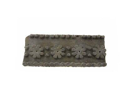Antique Bunta Stamped Wood Printing Fabric Textile Batik Rajasthan India D9 C