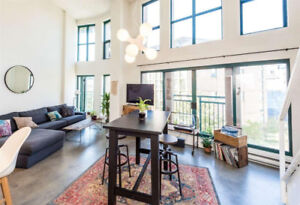 OpenHouse Friday! Loft in Gastown! 1 bdrm 1 bath Available Sep 1