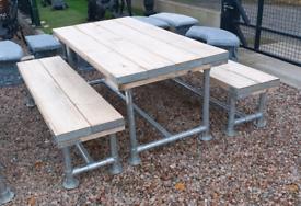Heavy duty very strong outdoor beer garden pub scaffold picnic table