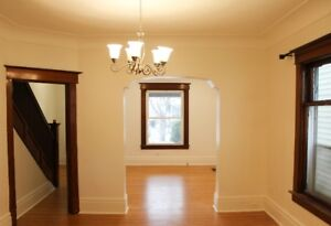 Large garage house with 3 bedrooms, 2 full baths.