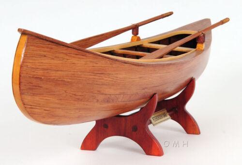 "Canadian Peterborough Canoe Wooden Model 24"" Fully Assembled Built Boat New"
