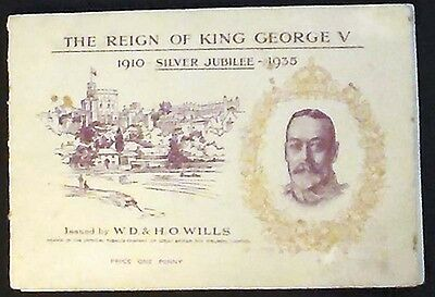 The Reign of King George V Silver Jubilee Complete 50-card album Wills Cigarette