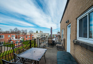 Upper 3 bdrm duplex with huge balcony- steps from Concordia Uni.