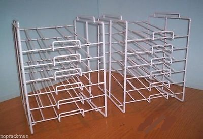 """Two AYS 6 Slot 8 1/2"""" x 11"""" Scrapbook Paper Product Storage Display Rack (White)"""