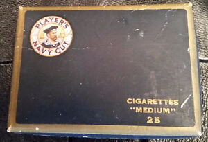 Post WWII Players Navy Cut Cardboard Pack With Embossed Tin Foil