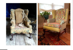 Reupholstering service available at very reasonable price!!!!
