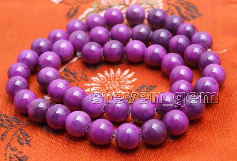 8mm Round Natural Purple Sugilite Loose Beads for Jewelry Making DIY Strand 15