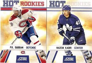 2010-11 Score Hockey Complete Set (550 cards - 50 RCs)