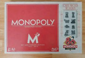 Monopoly 80th Anniversary Edition Board Game Hasbro Fun Kids/Family