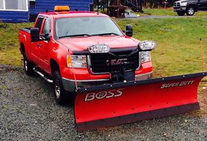 2007 GMC Sierra 2500 Pickup Truck with 8ft Heavy Duty BOSS Plow