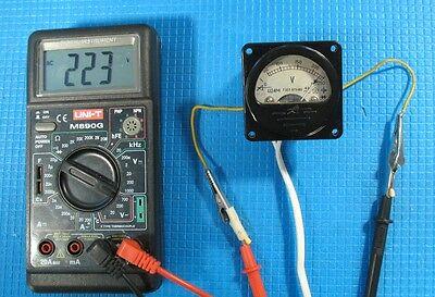 Vintage Russian Analog Mini Voltmeter Soviet Ussr Bakelite Panel Retro Ac Power