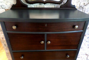 Late 1800s/early 1900s Tallboy Dresser with Mirror Shabby Chic