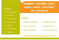 Assignment help for Bachelor,Masters,Diploma and Certificate