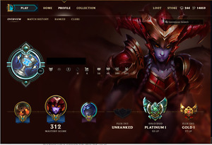 $600 OBO League of legends acc 14000ip, 100+ skins, 13 rune page