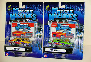 Collection of Muscle Machines 1:64 & 1:18 Scale Diecasts MINT