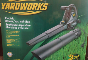 Yardworks Blower and Vac Mulcher with Bag. 9amp 10:1 ratio New