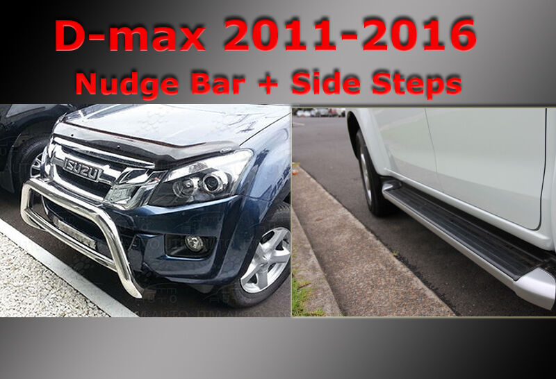 ISUZU D-max Side Steps + Nudge Bar Dual Cab 2012-2019
