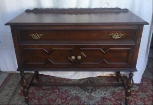 Elegant antique Server/sideboard, refinished (delivery)