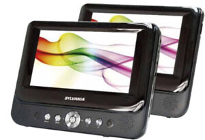 Dual 9-Inch Widescreen LCD Displays with Built-In DVD Player