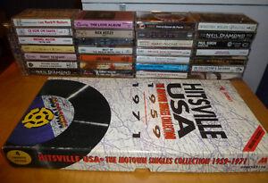Lot de 34 cassettes audio diverse