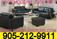 NO TAX 3PCS BONDED LEATHER SOFA SET $799 ONLY