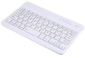 NEW White Ultra Slim Multimedia Wireless Bluetooth Keyboard