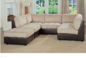 Microfibre/leather sectional