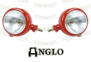 Massey Ferguson Headlight Pair Head Lamp Light 35 65 765 David Brown Tractor 990