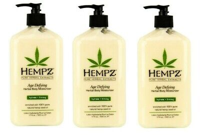 LOT 3 AGE DEFYING Herbal Body Moisturizer Hemp After Tan Lotion 17 -
