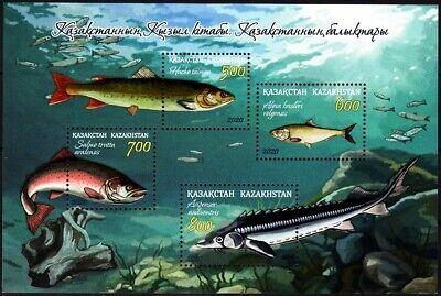 KAZAKHSTAN 2020-24 FAUNA: Red Book of Kazakhstan - Fish, MNH