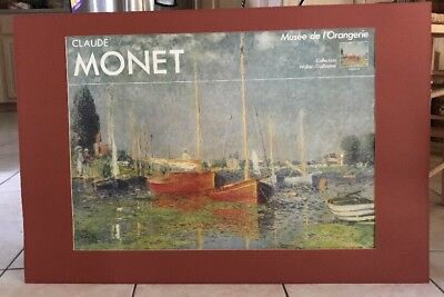 Claude Monet Unframed  Argenteuil Collection Musee de l'Orangeerie 2 Red Boats