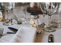 Mini mason jars with lids, LOVE embossed, wedding favours