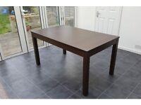 Extendable Ikea table brown BJURSTA (140/180/220x84 cm) - like new