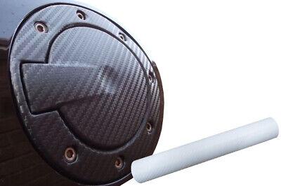 Auto PKW Design Folie Set in Carbon Weiß Premium Tankdeckel Tank Deckel