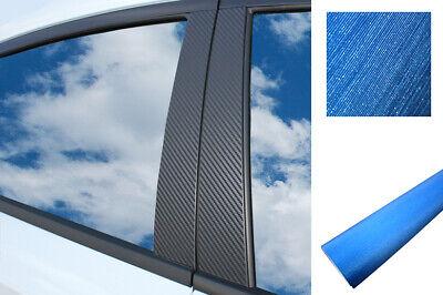 Auto Folie Wrap Set in Alu gebürstet Blau 6x PREMIUM A B C Säule Tür Leisten