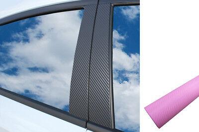 6x PREMIUM A B C Säule Tür Leisten Auto Folie Wrap Set in Carbon Rosa Pink