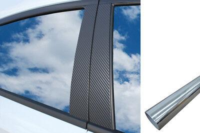 6x PREMIUM A B C Säule Tür Leisten Auto Folie Set in Chrom für viele Fahrzeuge